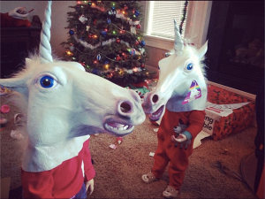 The unicorns permit you to be festive.