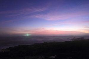 lighthouse after sunset